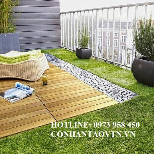 cỏ nhân tạo sân vườn trên sân thượng