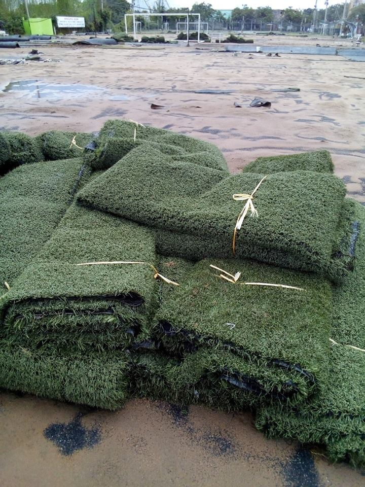 cỏ nhân tạo cũ